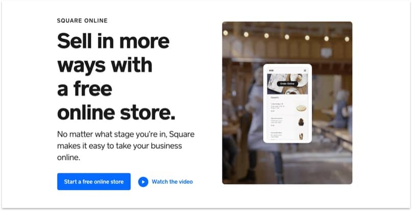 Square Online home page