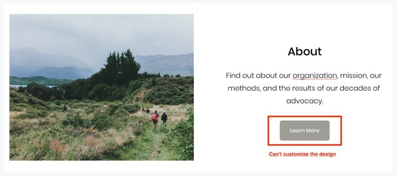can't customize button design in Squarespace