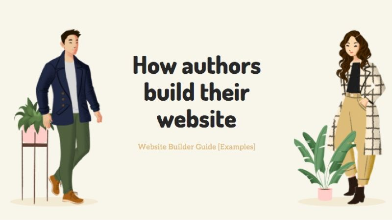 How authors build their personal website