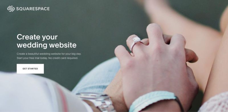 Squarespace wedding home page