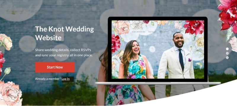 TheKnot home page
