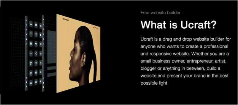 Ucraft home page