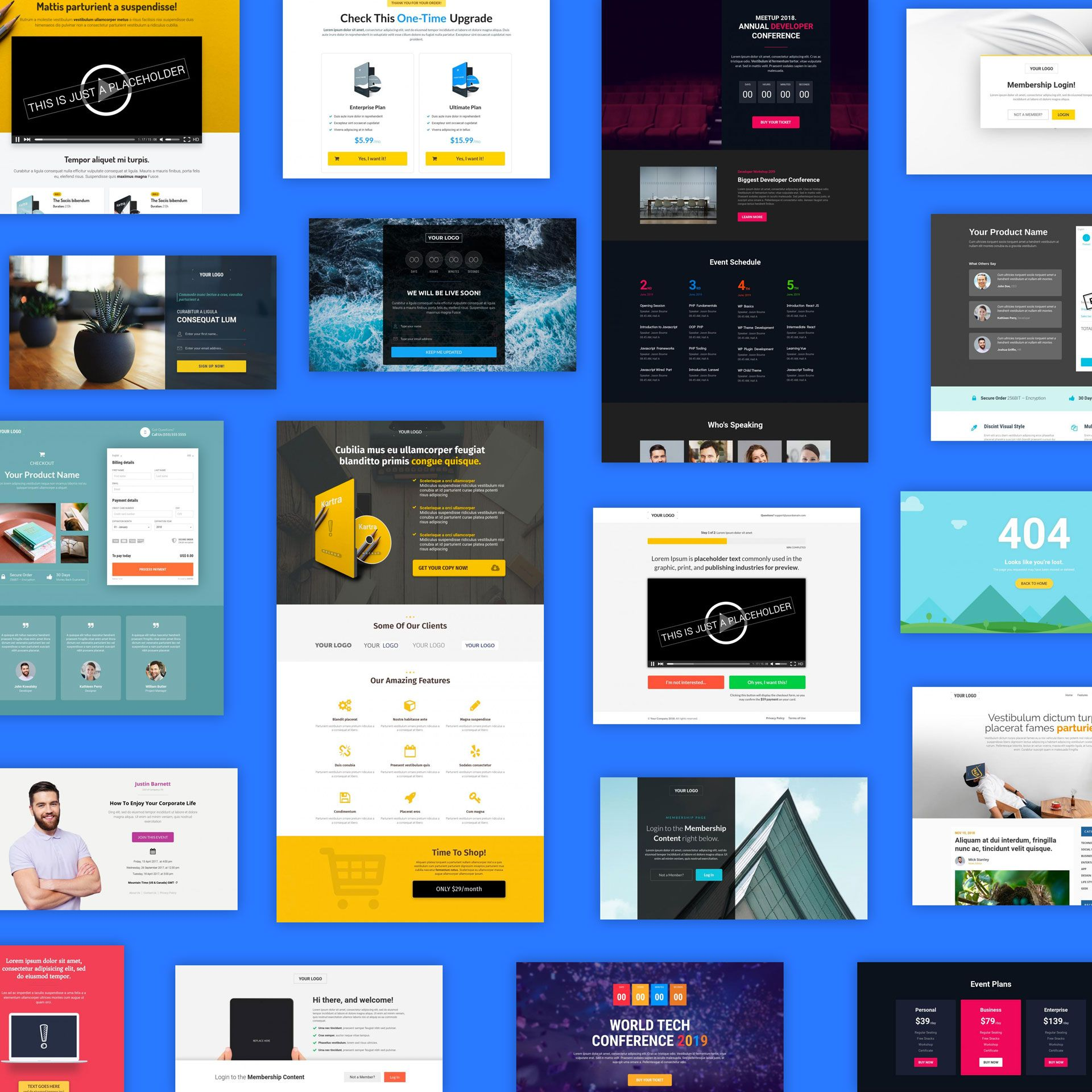 Kartra landing page template examples