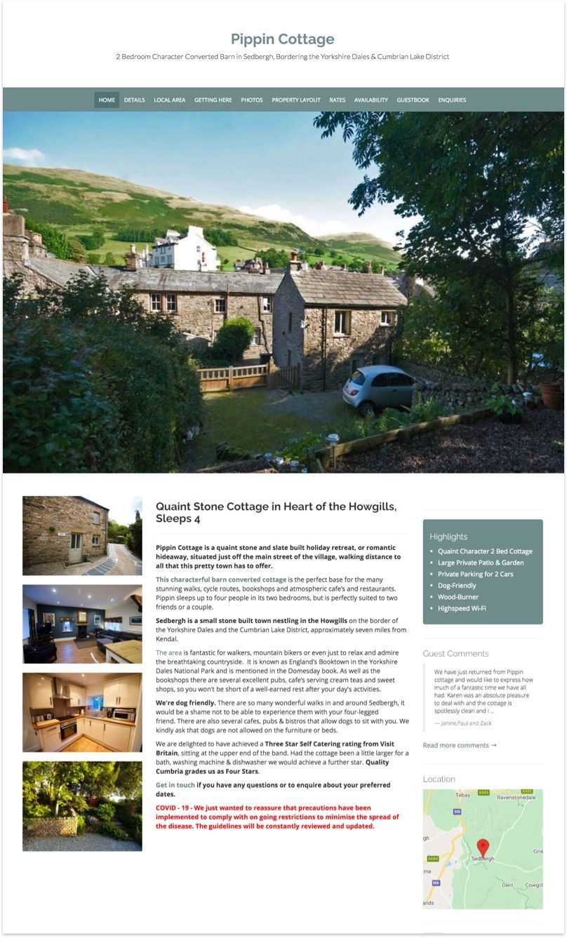 Pippin Cottage Website