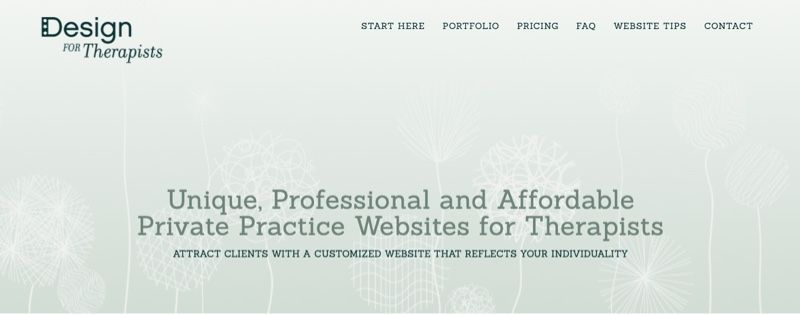 Design for Therapists home page