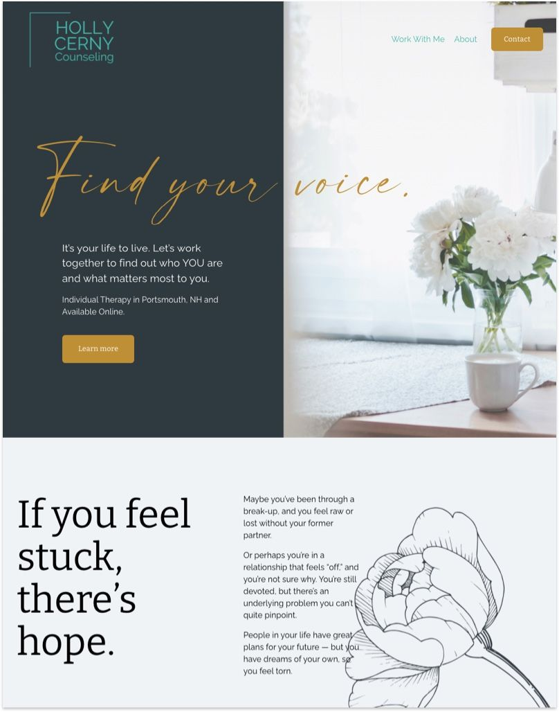 Holly Cerny Counseling Website