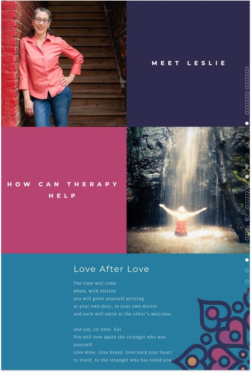 Leslie Binch Therapy Website