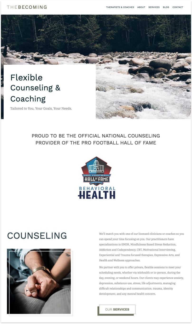 TheBecoming Counseling Website
